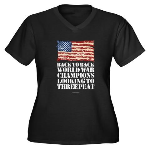 Want to get this Back to Back World War Champions Plus Size T-Shirt
