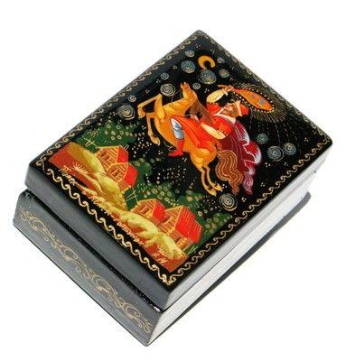 Konyok-Gorbunok Palekh Miniature Lacquer Box: