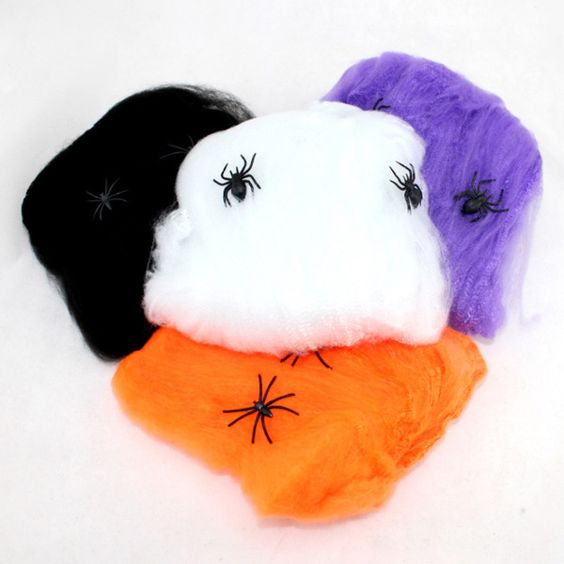 Halloween Prop Spider Web With Spider