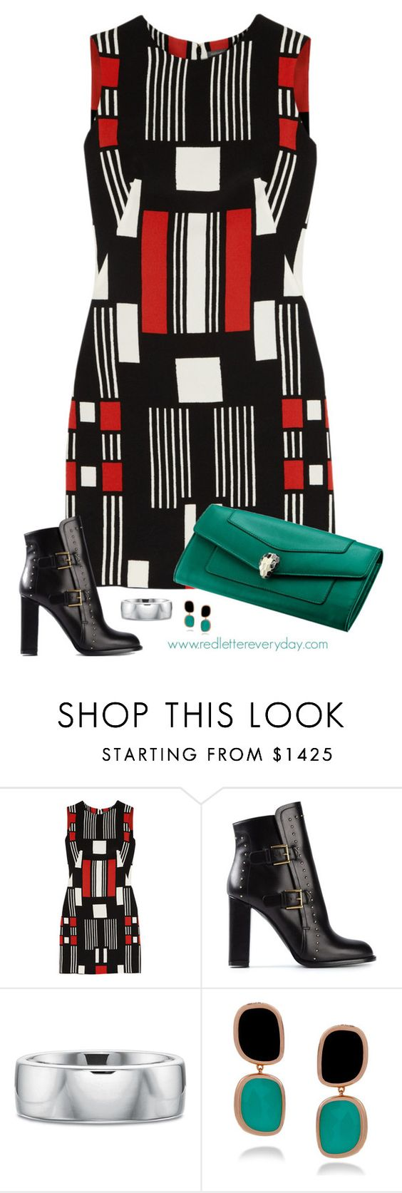 """Geometric Outfit"" by rleveryday ❤ liked on Polyvore featuring Alexander McQueen, Roberto Coin, Bulgari, workoutfit, officeOutfit and professionaloutfit"