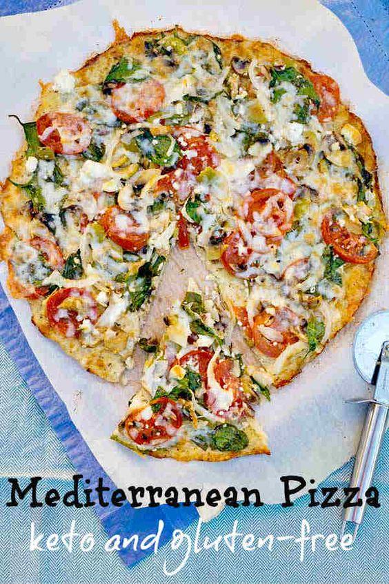Gluten-Free Keto Mediterranean Pizza