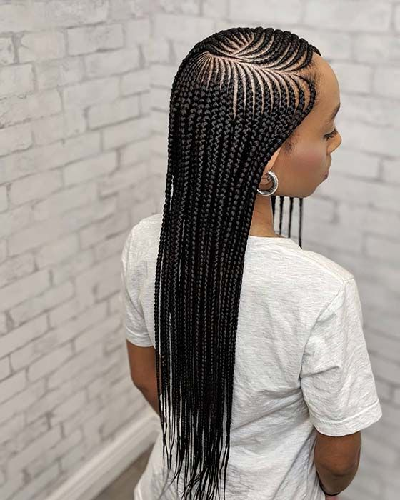 25 Cool Ways To Wear 2 Layer Braids This Season Stayglam In 2020 Feed In Braids Hairstyles African Braids Hairstyles African Hairstyles