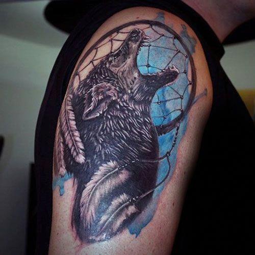Dreamcatcher Tattoo Ideas For Guys Cool Dreamcatcher Tattoos For Men Best Dreamcatcher Tat Dream Catcher Tattoo Tattoos For Guys Dreamcatcher Sleeve Tattoo