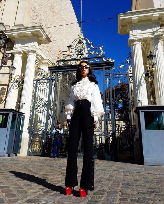 Aureta wearing Chanel