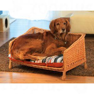 Hundesofa aus Weide