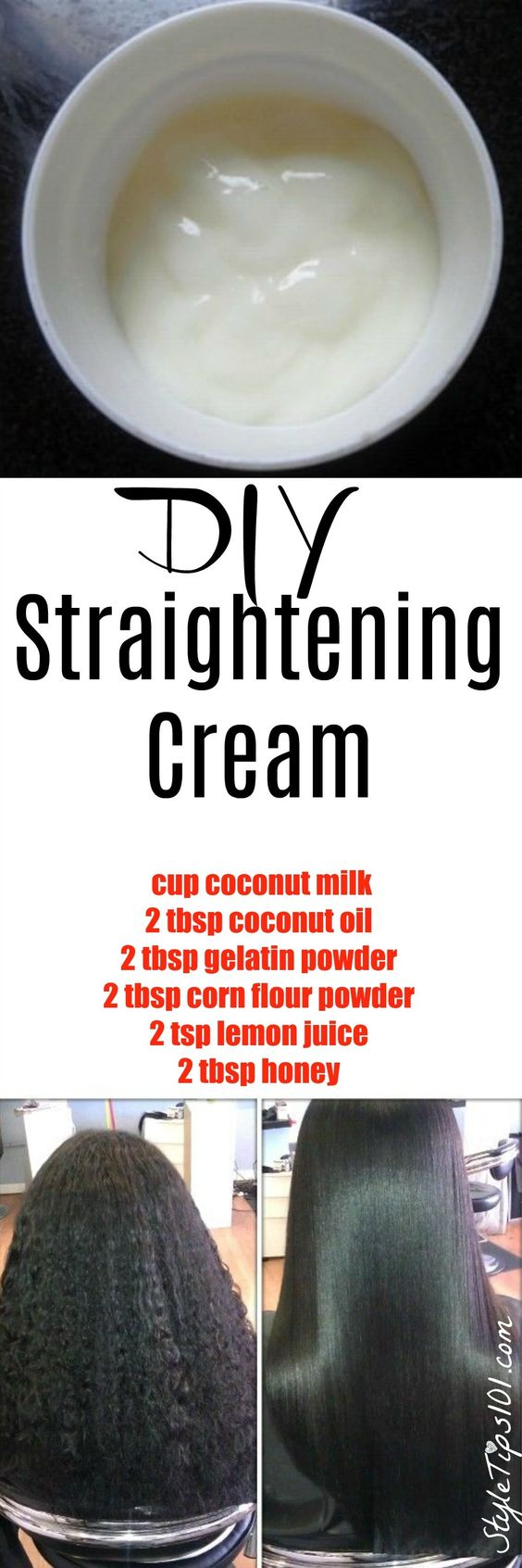 DIY Hair Straightening Cream: