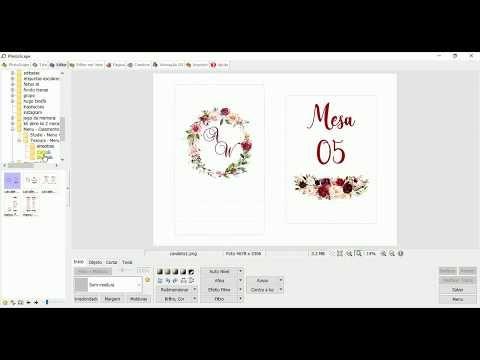 Como Fazer Menu De Casamento No Photoscape Youtube Menu