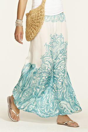 Elvera Silk Maxi Skirt