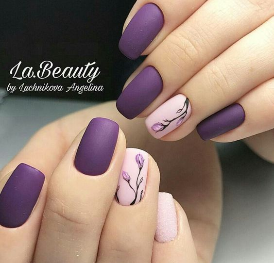 Almond Shaped Acrylic Nails Tutorial For Spring Nails Matte