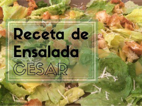 Receta de ensalada César original, casera y deliciosa