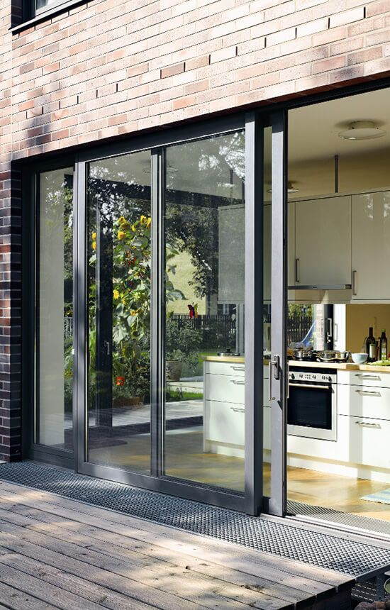 We Like The Idea Of Having All Glass At The Back And Incorporating A Sliding Door But Keep Sliding Doors Exterior Sliding Glass Doors Patio Sliding Patio Doors