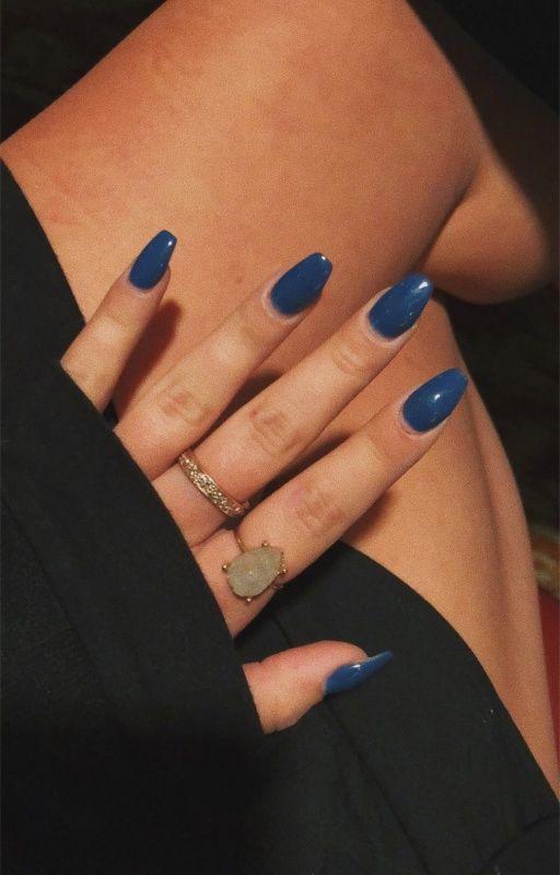 Vsco Sydpeloquin Navy Blue Coffin Acrylic Nails Acrylic Nails