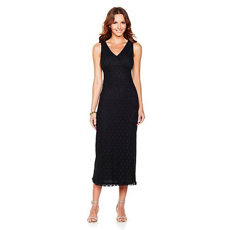Surplice Crochet Maxi Dress