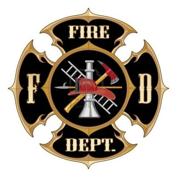 Fire Department Maltese Cross Vintage Is An Illustration