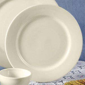 "6 1/2"" Rolled Edge American White (Ivory / Eggshell) China Plate 36 / CS by Choice. $27.99. 6 1/2"" Rolled Edge American White (Ivory / Eggshell) China Plate 36 / CS"