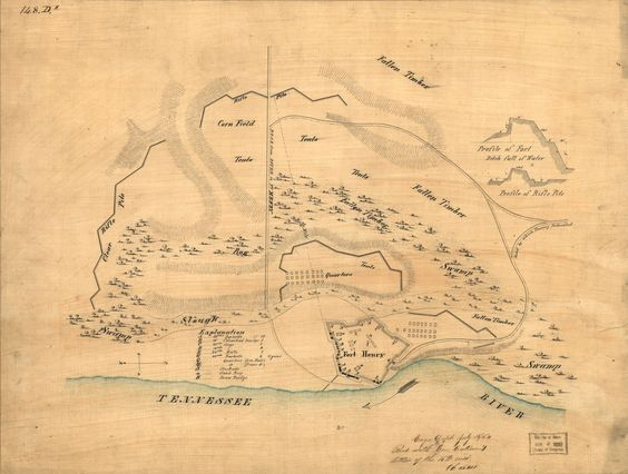 Plan of Fort Henry and its outworks. | Library of Congress