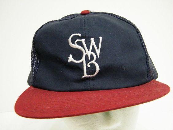 SWB SCRANTON WILKES BARRE RED BARONS CAP ROAD SWAG BASEBALL TRUCKER CAP HAT #BaseballCap