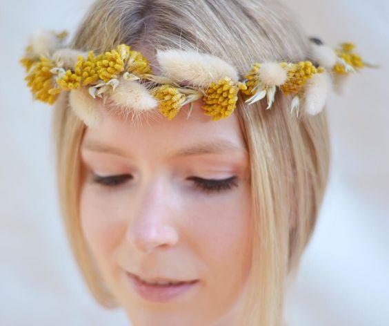 Yellow Headpieces for Bridesmaids