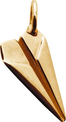 This quirky gold paper plane charm, makes a completely original addition to any charm necklace or bracelet. All our individual gold plated sterling silver charms can be used in our create your...