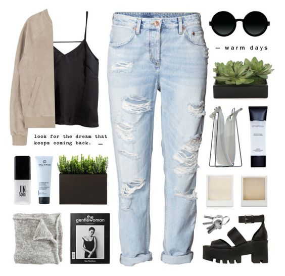 """""""//s p r i n g  a w a k e n i n g//"""" by lion-smile ❤ liked on Polyvore featuring H&M, Windsor Smith, Holga, Woodnotes, Moscot, Smashbox, Lux-Art Silks, DELAROM and JINsoon"""