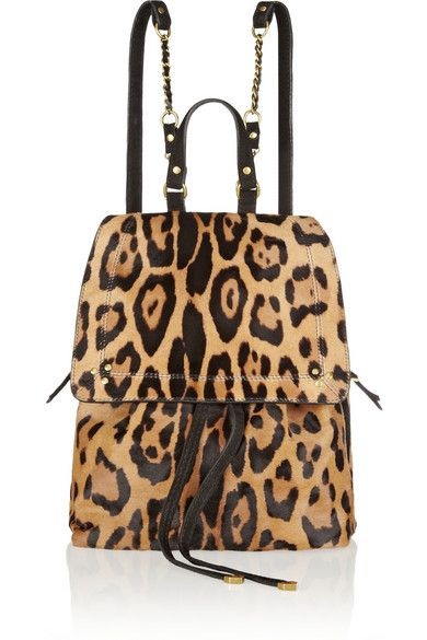 Jerome Dreyfuss Leopard Print Backpack #bag #fashion
