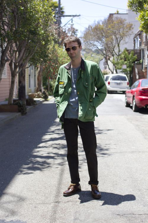 From Welcome Stranger, in SF: Shwood Oswald w/Grey Lens sunglasses, Barbour A7…