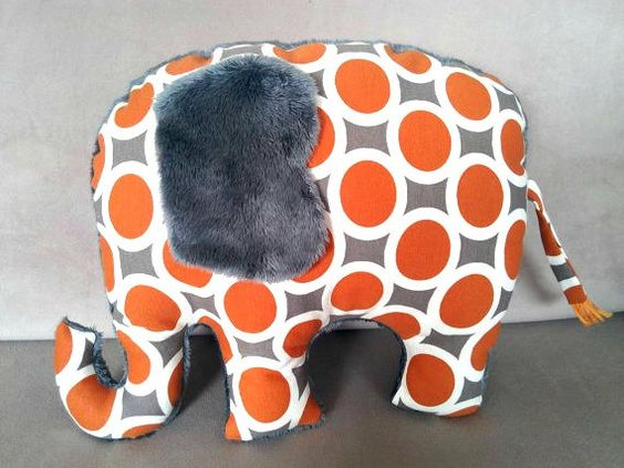 Stuffed toy stuffed elephant plush toy toddler gift by Pillowio
