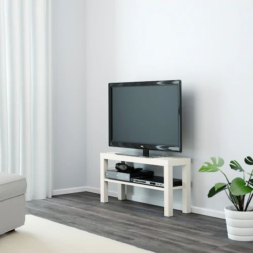 激安1,499円!IKEAの薄型テレビ台LACKは浅い奥行きで部屋が広い!