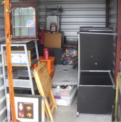 5x10. Shelves, Home Dacor, Tubs, Storage Drawers, Misc. #StorageAuction in Burleson (186). Lien Sale.