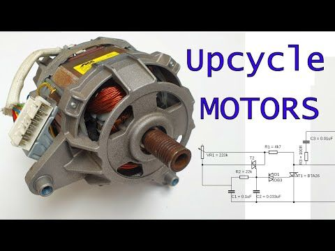 The 3 4 Horse Power Universal Motors Used In Washing Machines Are An Abundant Source Of Power For All Washing Machine Motor Old Washing Machine Washing Machine