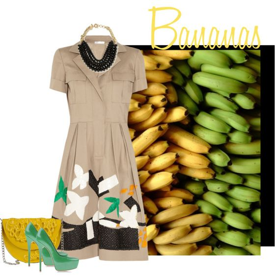 Bananas, created by francescacacace on Polyvore