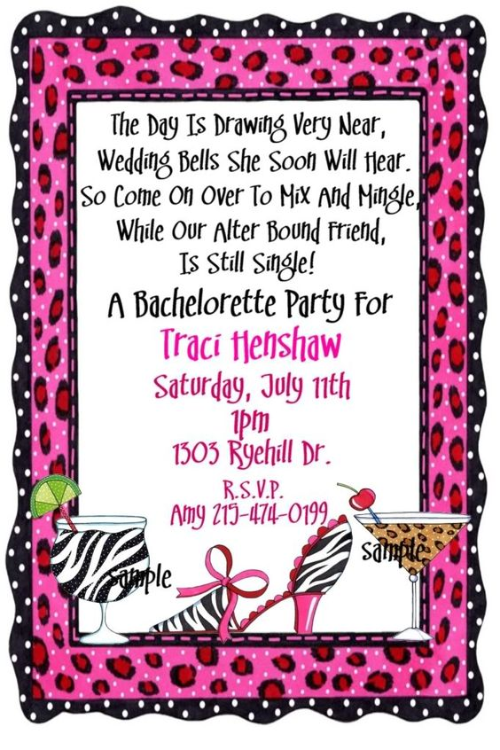 Bachelorette Party Invitation Wording | Party Invitations ...