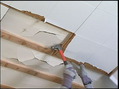 How To Replace Ceiling Tiles With Drywall