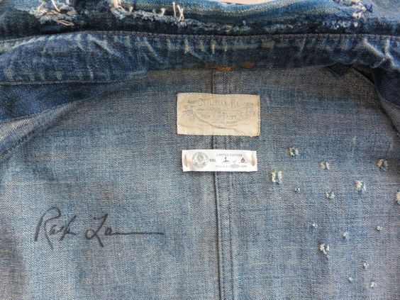 Autographed RALPH LAUREN RRL Japanese 'Boro' cloth jacket 1 of 6 | From a collection of rare vintage jackets at http://www.1stdibs.com/fashion/clothing/jackets/