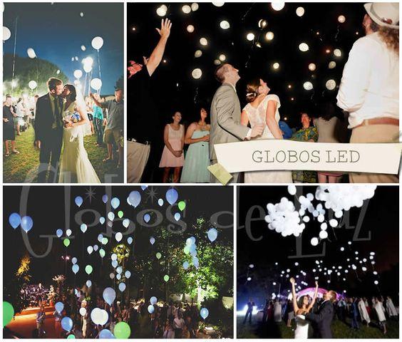 Globos led ideas originales para decorar boda for Decoracion bodas originales