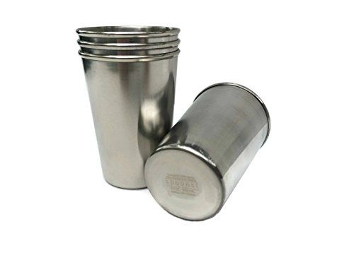 Spoonst Stainless Steel Kids Cups BPAFree Safe 6 oz Tumblers for Toddlers and Preschoolers 4 Pack * You can find out more details at the link of the image.