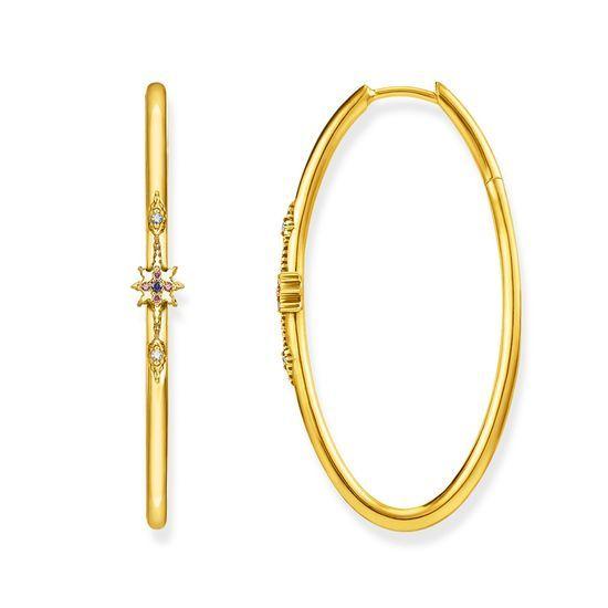 Hoop Earrings Royalty Gold