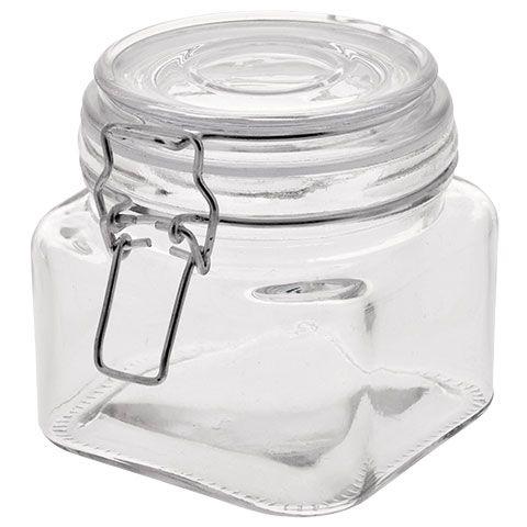 Square Glass Jars With Clasp Lids 20 Oz Glass Food Storage