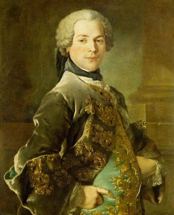 Sartorial Shy Hand! Portrait of Isaac van Rijneveld, Louis Tocqué, 1738. rijksmuseum.: