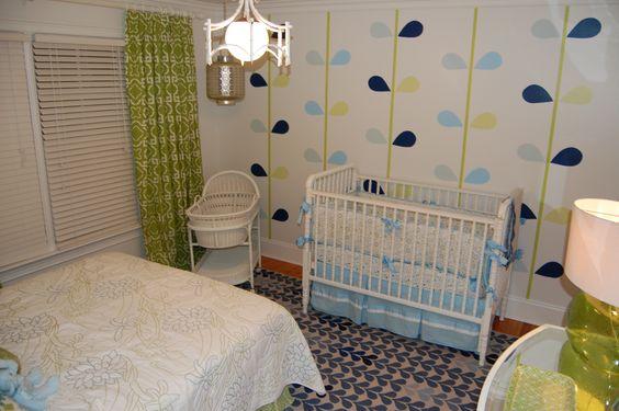 Cool nursery for baby girl