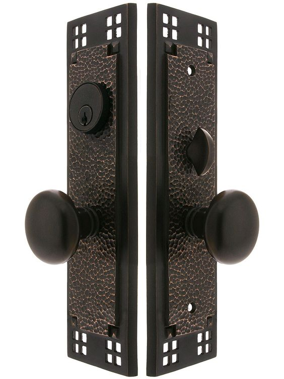 Craftsman Mortise Lock Entry Set With Providence Knobs
