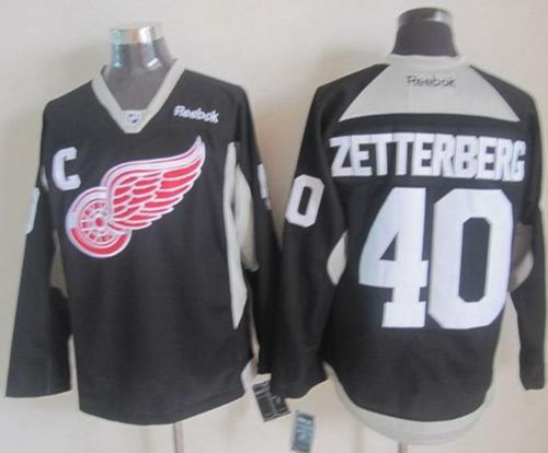 ... NHL New Practice Jerseys Detroit Red Wings zetterberg black Jerseys  Youth NHL Red Wings 13 Pavel Datsyuk ... 9f128ff6d