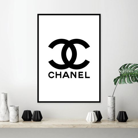Fashion Set Of 3 Inspired By Coco Chanel Logo Labuten Autograph Fashion Typography Gallery Fashion Wall Art Bedroom Decor Art Gallery Wall Fashion Typography
