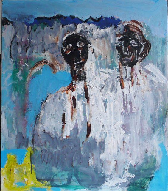 Untitled, acrylic on canvas, Eliza John