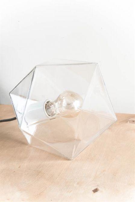 Hk living tafellamp Geometrisch van acryl doorschijnend met dimmer