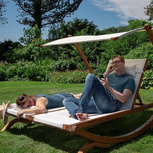 Amazon De Ampel 24 Lounge Doppel Sonnenliege Hawaii Mit Dach Gartenliege Mit Einzeln Verstellbarer Ruckenlehne Do Sonnenliege Gartenliege Doppelliege Garten