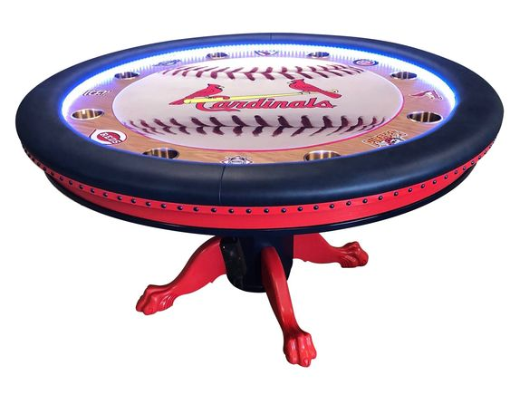 St Louis Caridals Baseball Mlb Poker Table Custom Poker Tables Poker Table Poker