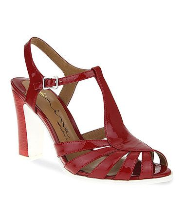 Another great find on #zulily! Imperial Red Patent Sibeal T-Strap Sandal #zulilyfinds