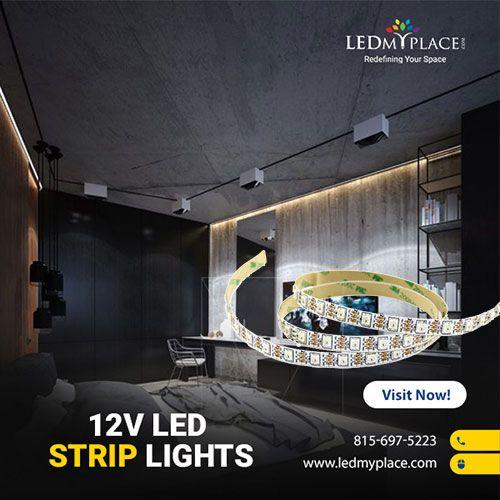 12v Led Strip Lights By Ledmyplace For Your Indoor And Outdoor Lighting Application Led 12v Rgb Led Str 12v Led Strip Lights Led Strip Lighting Strip Lighting