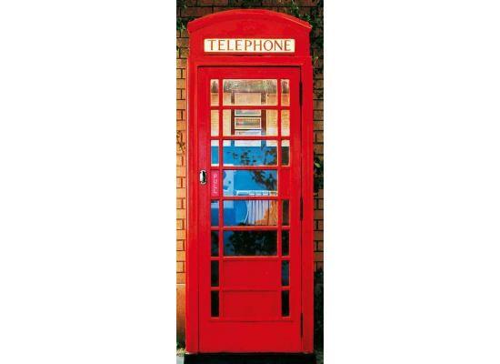 Türtapete Türposter Telefonzelle-Türposter